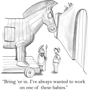 Beware the Trojan Horse by Cheryl Stein